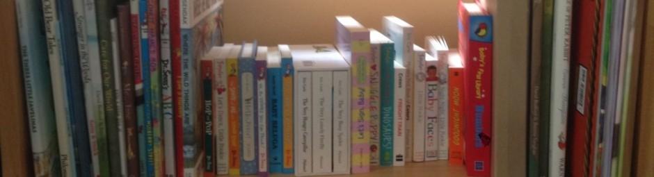 Bookshelf of children's books