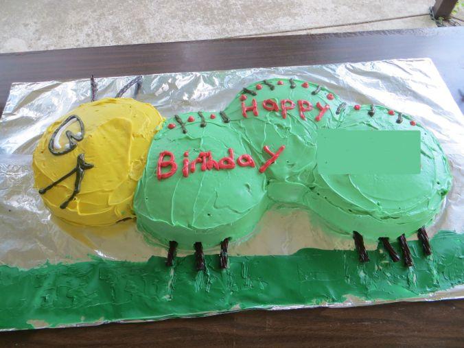 Birthday Caterpillar Cake