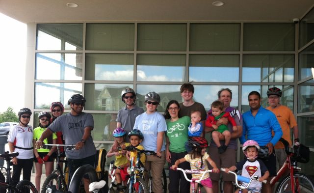 Kidical Mass Rockville launch ride