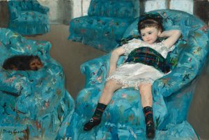 Little Girl on a Blue Armchair, Mary Cassatt
