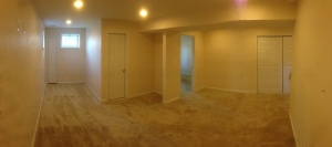 Our finished basement!
