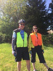 Shannon and John (Rootchopper) at the Tour de Cookie