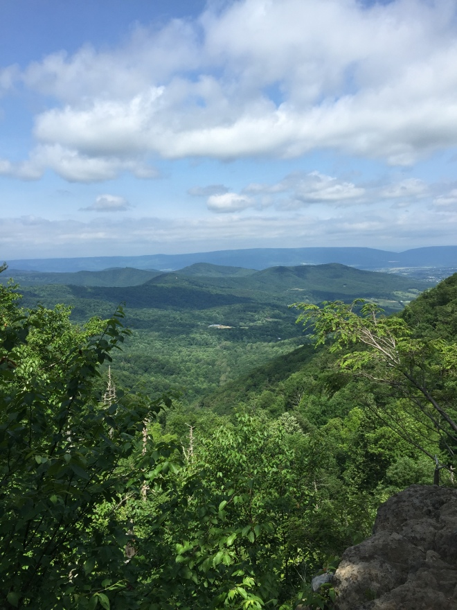 View of the Shenandoah Valley from the Lewis Falls Trail in Big Meadows