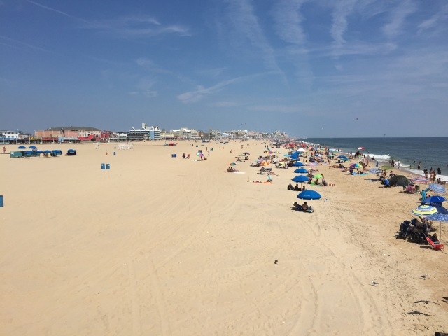 Beach and hotels of Ocean City