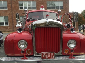 Front of a fire truck