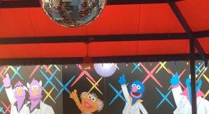 Disco themed teacups ride