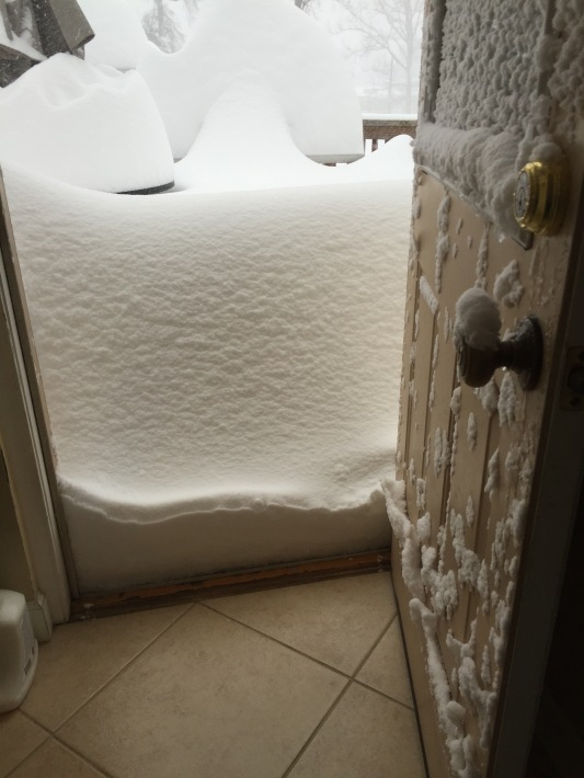Snow at door