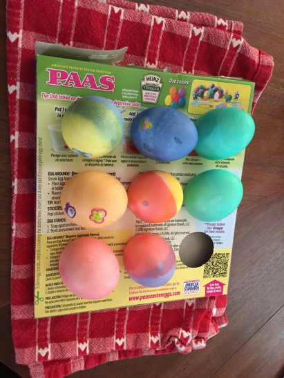 Dyed Easter Eggs - Paas
