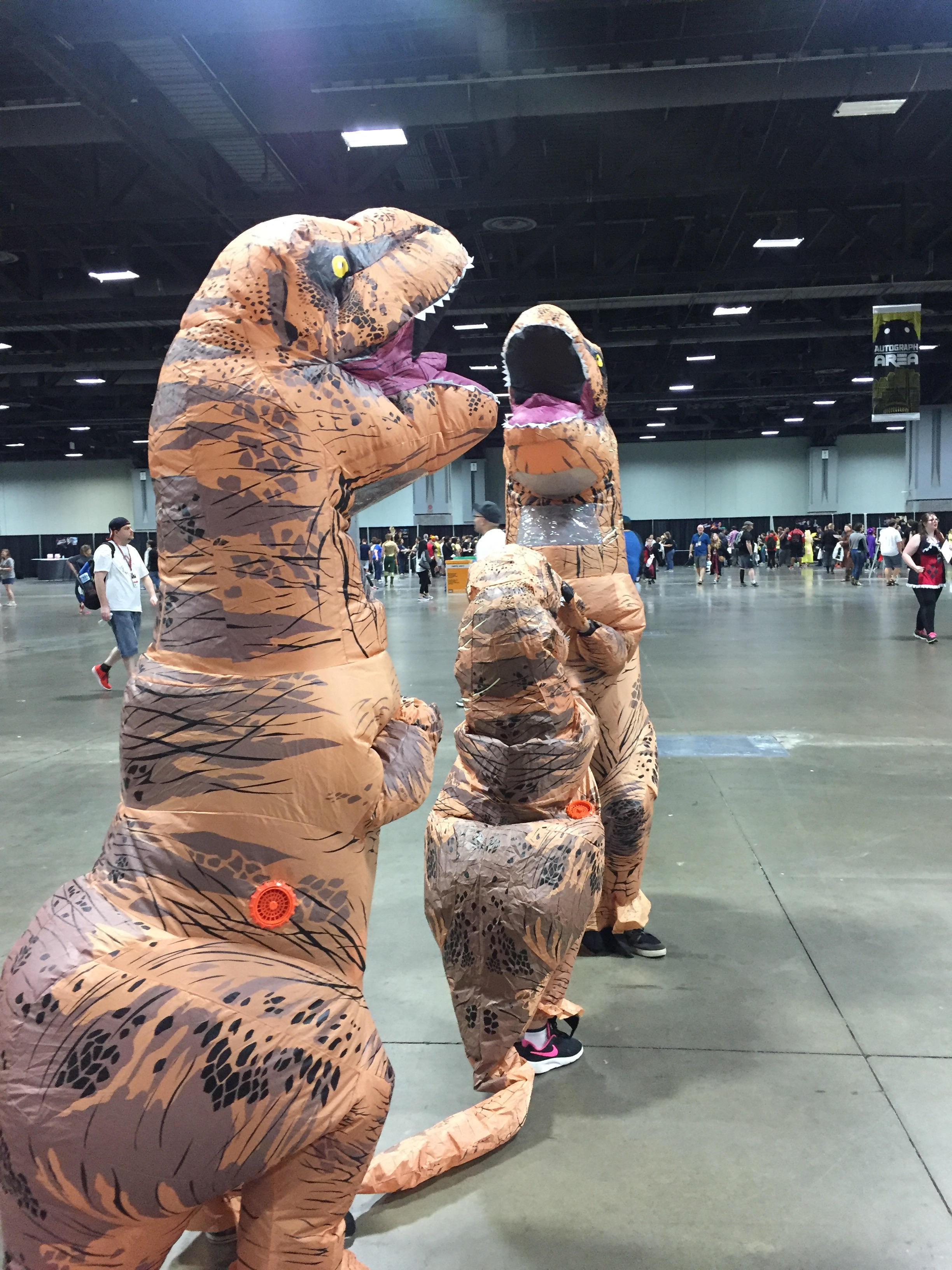 Dinosaurs at AwesomeCon