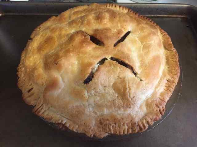 A home-made apple pie.