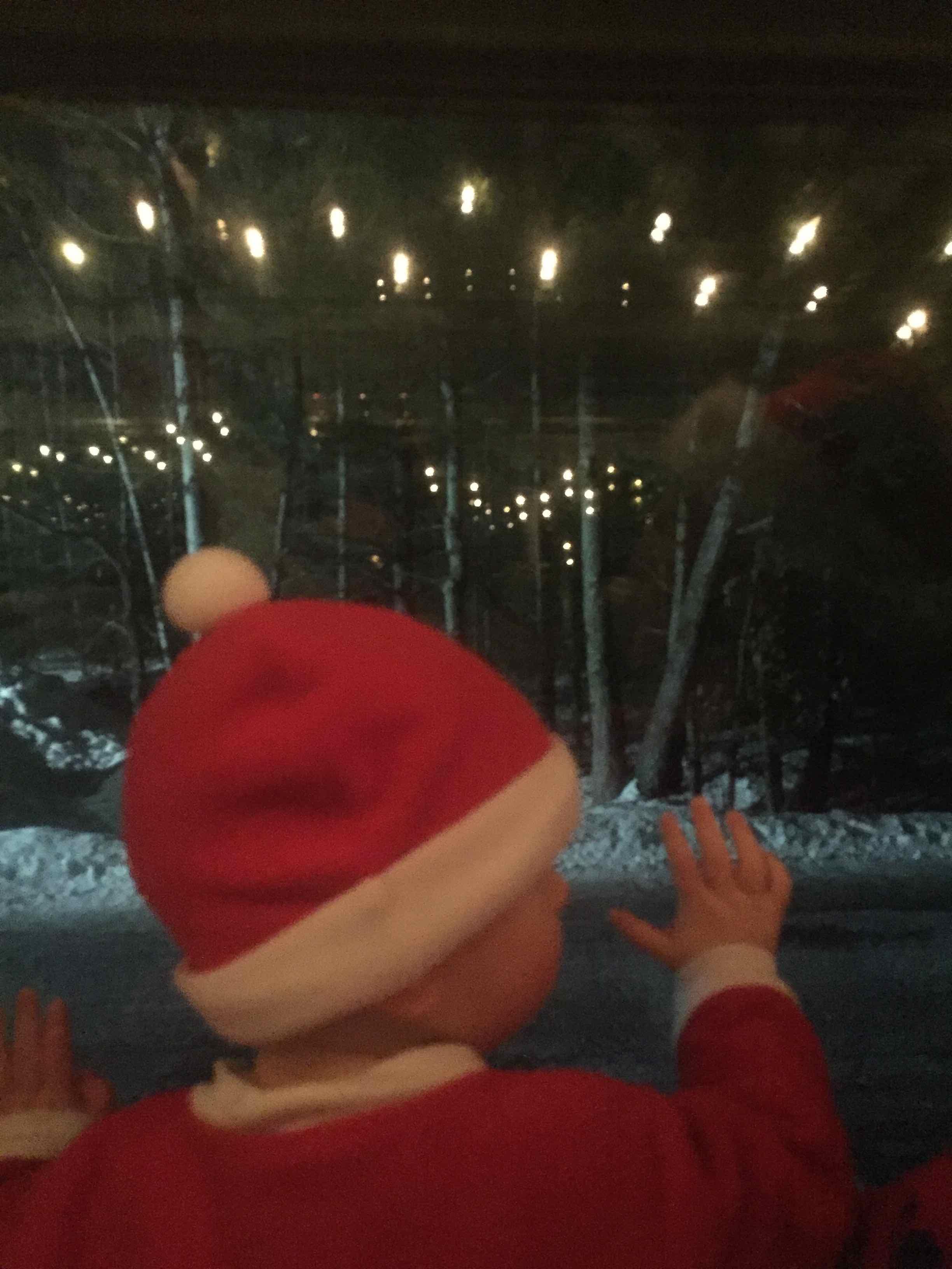 Baby Santa on Polar Express